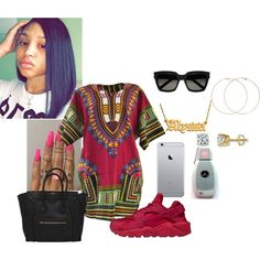 A fashion look from June 2016 featuring NIKE athletic shoes, Forever 21 earrings and Yves Saint Laurent sunglasses. Browse and shop related looks.