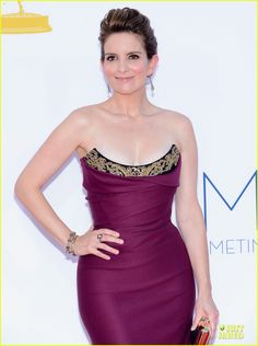 Tina Fey worked it in Vivienne Westwood at the Emmys.  Love the ring and bracelets.