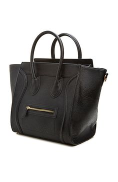 DAILYLOOK Large Structured Handbag in Black | DAILYLOOK