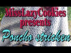 Poncho stricken | Anleitung für Anfänger - YouTube