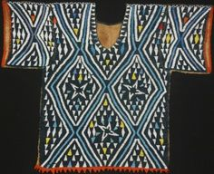 "Time & Material: Gail Martin Gallery at 40 by Lois Martin. Man's Ceremonial Dance Jacket With Necklace (Cameroon, Tikar People) 22"" X 26"" Early 20th century Beads Sewn to Plain weave Cloth of Plant Fiber. Photo courtesy Gail Martin Gallery"