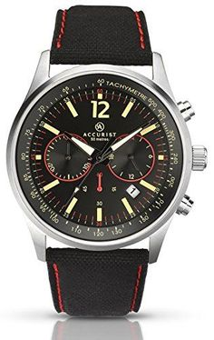 Luxury and Sports watches For Mens : Accurist Men's Quartz Watch with Black Dial Chronograph Display and Black Fabric Fashion Usa, Picture Description, Sport Watches, Black Fabric, Quartz Watch, Omega Watch, Chronograph, Display, Luxury