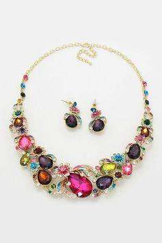 Crystal Magnolia Necklace in Enchantment