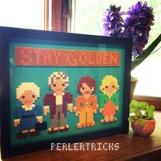 The Golden Girls - Original perler bead art by perlertricks
