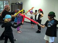 Chopsticks - Pirate style.  Cute boomwhacker activity.
