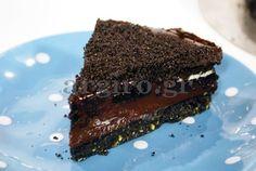 Τούρτα Ganache με μπισκότα Sweet Recipes, Oreo, Chocolate, Desserts, Food, Kitchens, Meal, Schokolade, Deserts