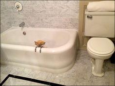Caulking Job Finished around My Vintage 1939 Kohler Corner Bathtub | Content in a Cottage