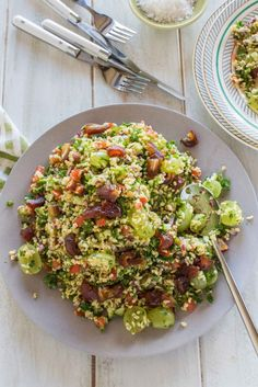 Tabouleh Salad with Dates and Grapes