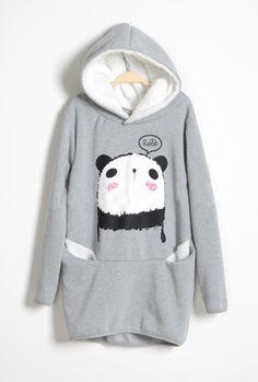 Panda Hoodie Dress BAIBG on Luulla by ana9112
