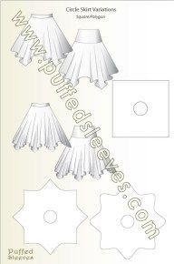 Sewing Skirts A square and a star skirts - Illustrated tutorials for common sewing techniques and apparel construction. Printable patterns for girl dresses available Size Diy Clothing, Sewing Clothes, Doll Clothes, Sewing Coat, Skirt Patterns Sewing, Clothing Patterns, Coat Patterns, Blouse Patterns, Sewing Hacks