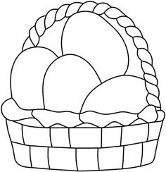 Easter basket pattern from Darryl's Stained Glass Patterns