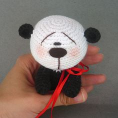 Crochet amigurumi Panda bear - pattern PDF file, with pictures for making a toy !!! NOT FINISHED TOY!!!!!   !ENGLISH LANGUAGE!  Level: medium.  This pattern includes: step by step instruction, detailed photo tutorial. Instruction are written in English language.  Using this pattern you could create cute amigurumi panda bear toy. You can use any yarn and color you like, buttons and ribbon...  Feel free to sell your finished items.  All you need is free time and a little bit patience and you…