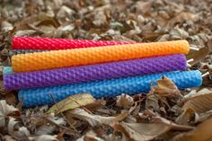 """Rainbow 8"""" Taper Candles, Set of Seven Rolled Beeswax, by pumpkinbear--$56.00"""