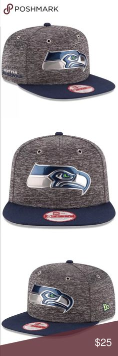 the best attitude fe1b7 c8df8 New Era 9Fifty Seattle Seahawks Draft Day SnapBack Official 2016 NFL Draft  Collection  Liquid Chrome