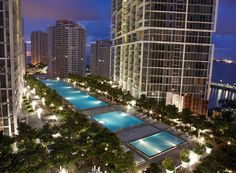 Pool at Viceroy Miami. Fabulous!