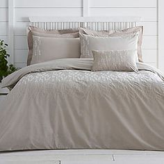 Meadow Embroidered Duvet Cover & Pillowcases #kaleidoscope #bedding