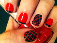 my first mani with striping tape :)