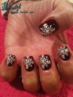 Gorgeous ice crystal nails by the illustrated nail.
