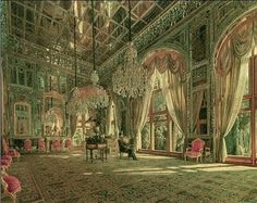 Nasereddin Shah at Golestan Palace, Iran.