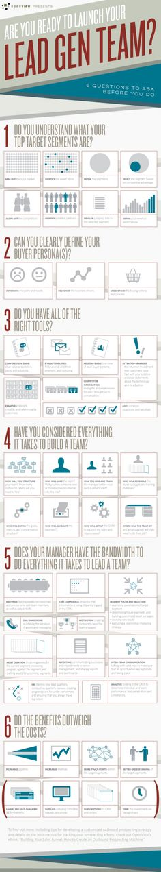 Are You Ready to Launch Your Lead Generation Team? 6 Questions to Ask Before you Do... | Infographic