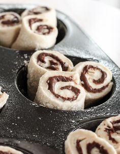 Nutella Rolls with Cream Cheese Icing
