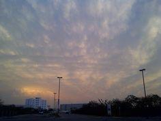 El cielo de Mérida después de una tarde de granizo