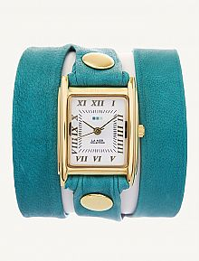 I love gold and teal together! I need this watch