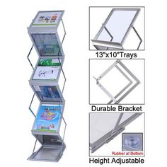 Literature Stand Brochure Holder 5 Pocket >>> See this awesome image : Magazine Holders Literature Organizer, Brochure Holders, Sales People, Magazine Holders, Wall Organization, Portable, Drafting Desk, Display, Pocket
