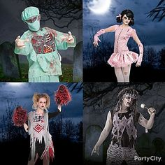 Shop for zombie costumes for kids and adults or find costume ideas. We also have plenty of cool group and couples zombie costumes for your undead photo op. Top 10 Halloween Costumes, Zombie Couple Costume, Halloween 2015, Spirit Halloween, Cool Costumes, Adult Costumes, Halloween Party, Halloween Ideas, Witch Doctor Costume