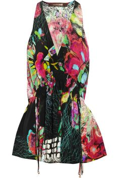 Roberto Cavalli | Printed silk top