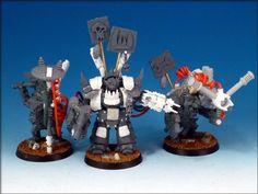 IRONDOG Studios Awesome Ork Mega Warboss, Shokk Attack Gun Big Mek and KFF Big Mek