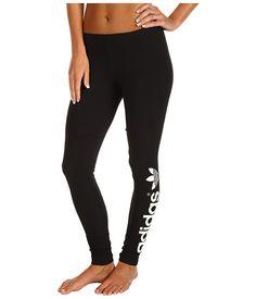 adidas Originals Linear Logo Legging Black/White - Zappos.com Free Shipping BOTH Ways