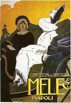 By Marcello Dudovich (1878-1962), Mele & Ci, Napoli. #ItalianPoster