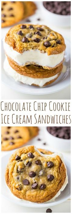 Homemade Chocolate Chip Ice Cream Sandwiches are a Summertime staple!