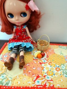 Blythe quilt #blythe #quilt #miniature
