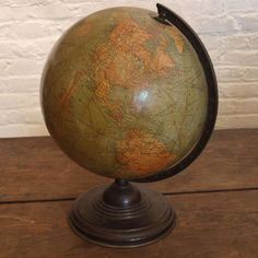 1934 World Globe   I believe Adam's grandpap has this globe wonder if we could use it for the nursery:)