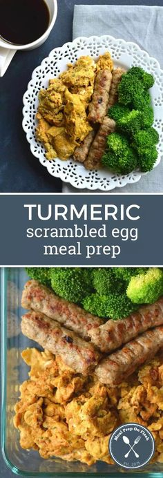 Turmeric Scrambled Egg Meal Prep - Meal Prep on Fleek™ Give your breakfast an antioxidant boost by adding turmeric to your morning eggs for one healthy Turmeric Scrambled Egg Meal Prep recipe! A great low carb breakfast recipe and keto breakfast recipe. Egg Recipes, Lunch Recipes, Breakfast Recipes, Dinner Recipes, Healthy Recipes, Breakfast Ideas, Paleo Breakfast, Breakfast Sandwiches, Healthy Options