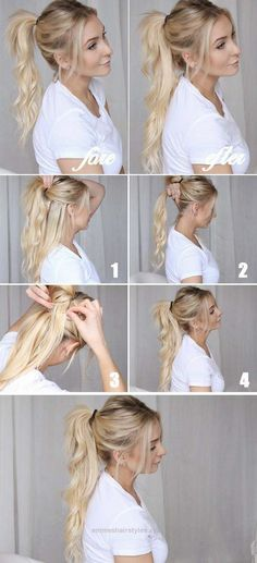 Outstanding Best Hairstyles for Long Hair – Cool Ponytails – Step by Step Tutorials for Easy Curls, Updo, Half Up, Braids and Lazy Girl Looks. Prom Ideas, Special Occasion Hair and Braiding Instruct ..