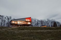 Montagnaro #House (Mountain Man in Italian), designed by Mapos LLC, sits on 12 breathtaking acres outside of Hudson, NY.