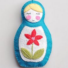 My Sparkle has a cute Matryoshka Doll ornament pattern you could whip up easily for Christmas decorating this year.