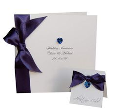 Allure Navy Wedding Invitation Card