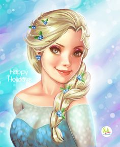 Happy Holidays Fanart Elsa by Didi-Esmeralda on DeviantArt