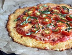 Low-Carb Cauliflower Crust Pizza Recipe