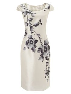 Jacques Vert Flower Print Mother of the Bride Dress