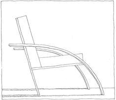 Aldo Rossi, Parigi chair, 1989 | drawn by Riccardo Salvi