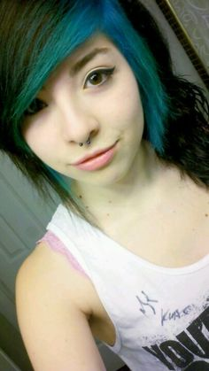 colored bangs -