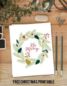 Be Merry Christmas Printable with livelaughrowe.com