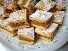 Apple cake (in Romanian) Apple Cake, Cornbread, Feta, French Toast, Dessert Recipes, Food And Drink, Sweets, Snacks, Cookies