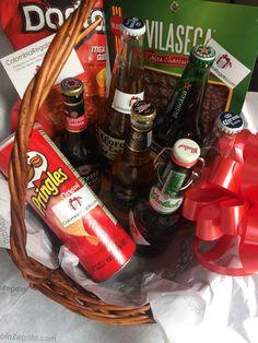 Beer gift basket, canastas de regalo con cervezas, regalos para hombre