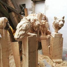 "56 Likes, 2 Comments - Jerome Vercruysse (@jeromerac1690) on Instagram: ""#jurgenlinglrebetez #chainsaw #sculptor"""